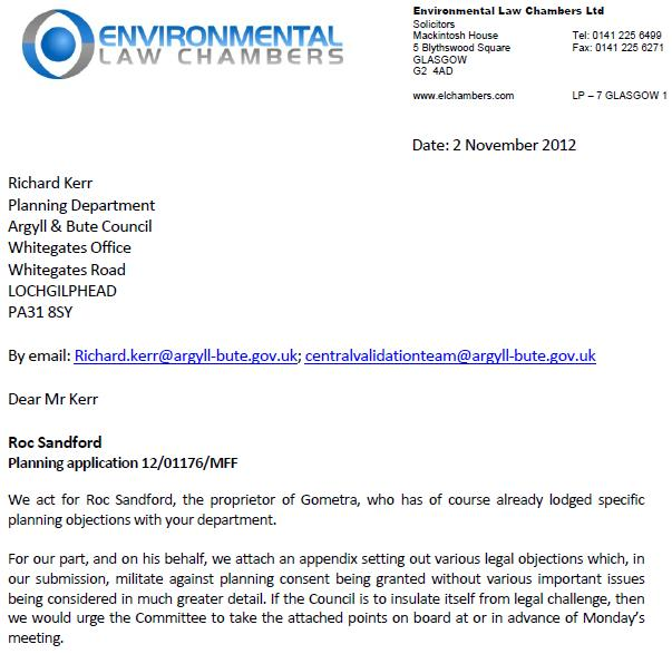 Gometra legal letter