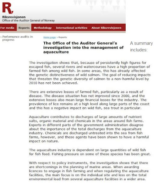 Office of Auditor General report