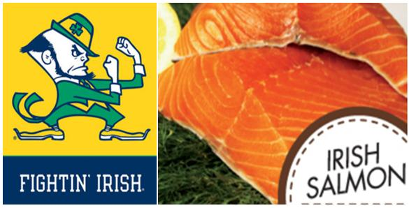 Fighting irish salmon