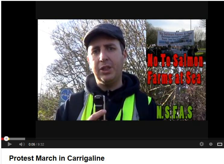 Video protest march in Ireland
