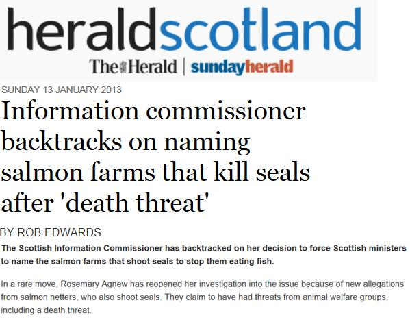 Sunday Herald Jan 2013 on SIC delay