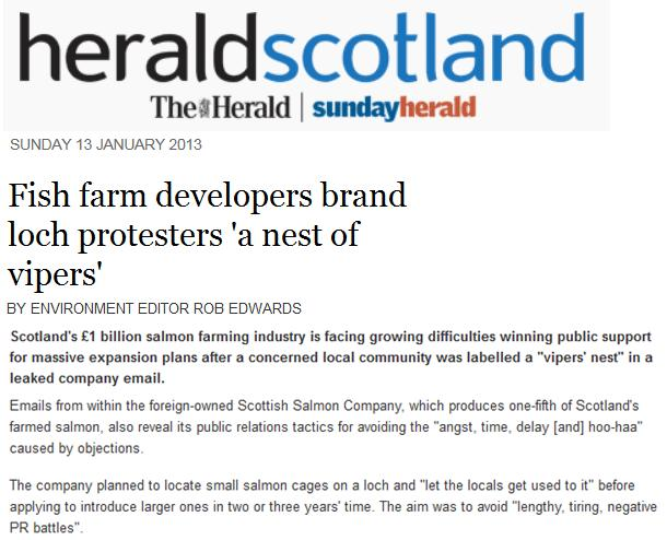 FishyLeaks Sunday Herald 13 Jan 2013
