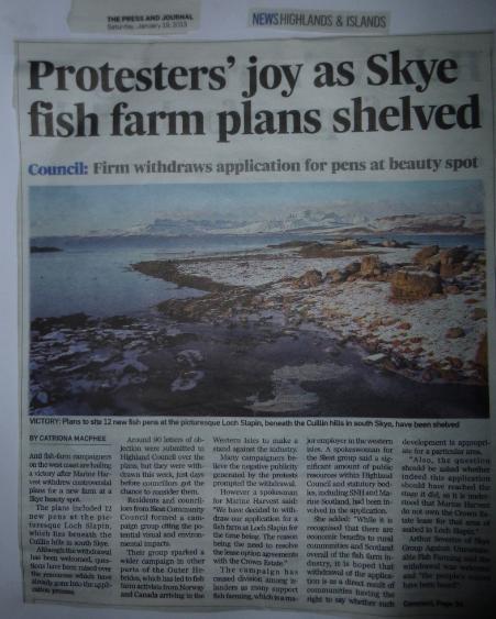 P&J on Loch Slapin withdrawal Jan 2013