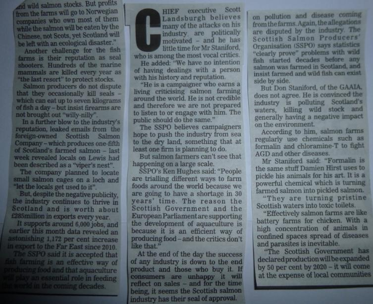 Sunday Express Toxic Toilets 20 Jan 2013 #2