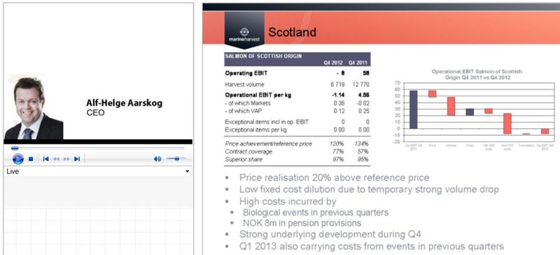 Q4 2012 presentation live #2 Scotland