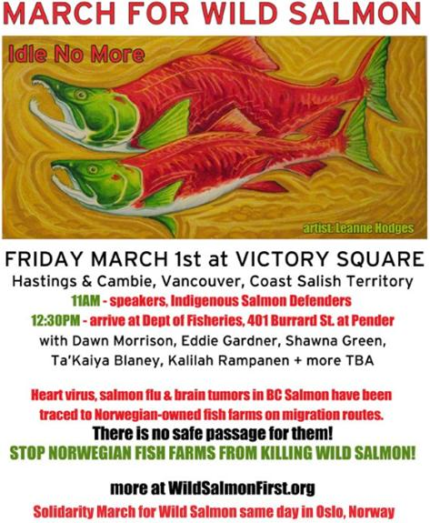 March for Wild Salmon Vancouver poster 1 March newer version