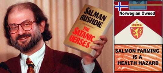 Salman Rushdie with Salmon