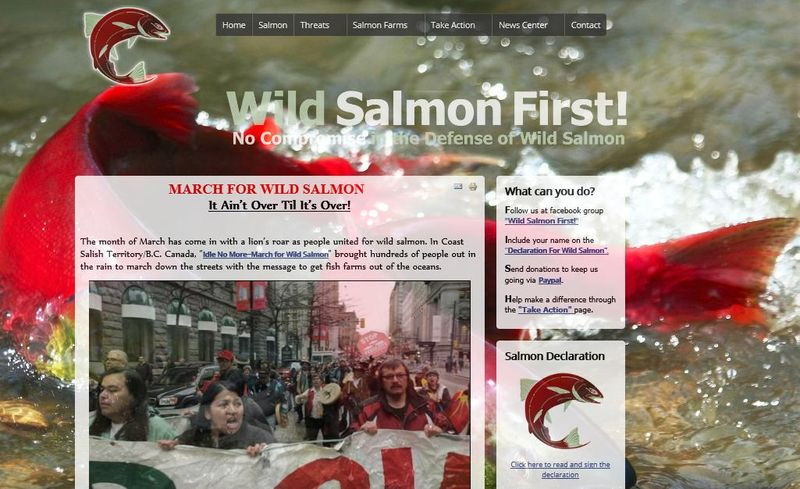 Wild Salmon First front page