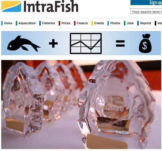 Aquaculture Awards 2013 #1 Intrafish