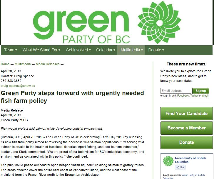 Green Party press release 20 April 2013 #1