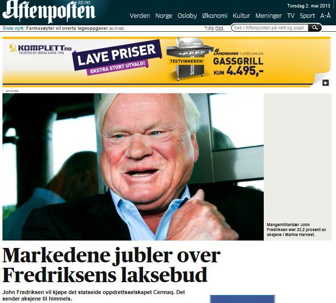 MH Cermaq Aftenposten 2 May