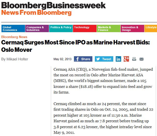 MH cermaq Businessweek cermaq surge