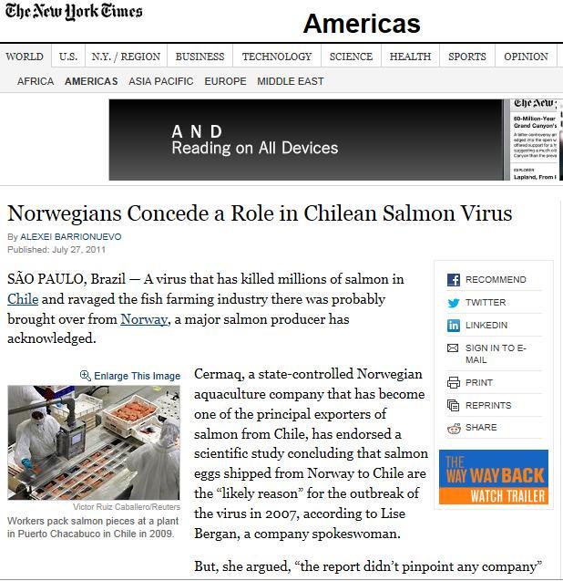 NY Times 2011 Cermaq #1