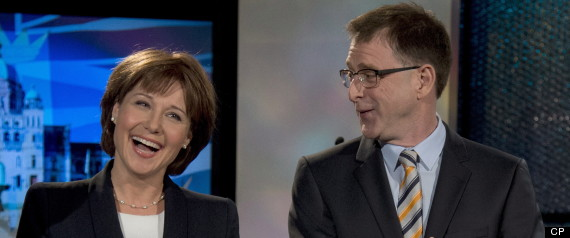 Adrian Dix and Christy Clark