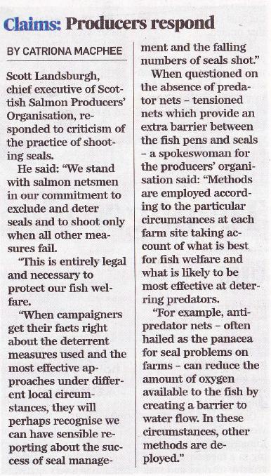 P&J 9 May 2013 SSPO responds