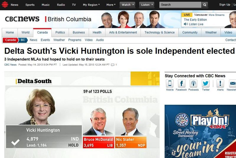 Vicki Hungtington victory