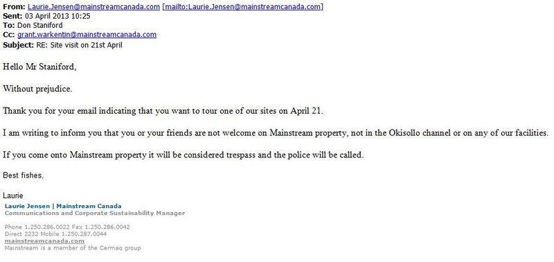 Mainstream site visit cancelled 3 April 2013 #3