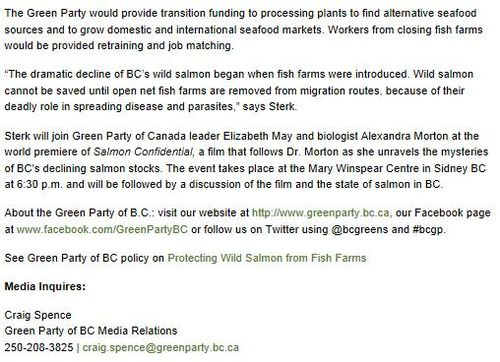 Green Party press release 20 April 2013 #2