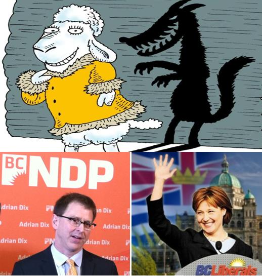 Wolf in sheep's clothing NDP Liberals