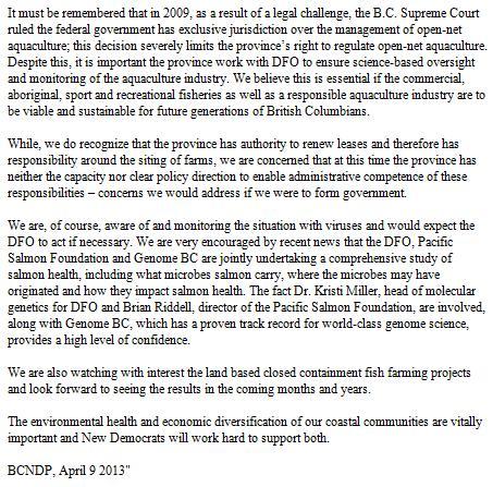 Lana Popham statement on Facebook #3