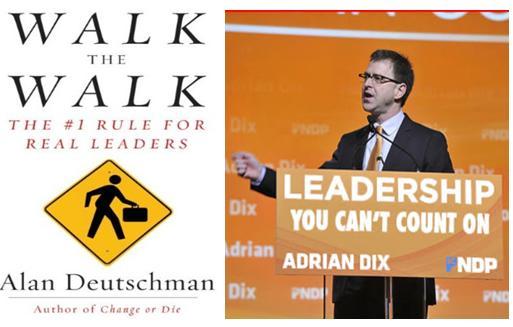 Adrian Dix walk the walk