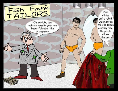Adrian Dix Emperor new clothes cartoon