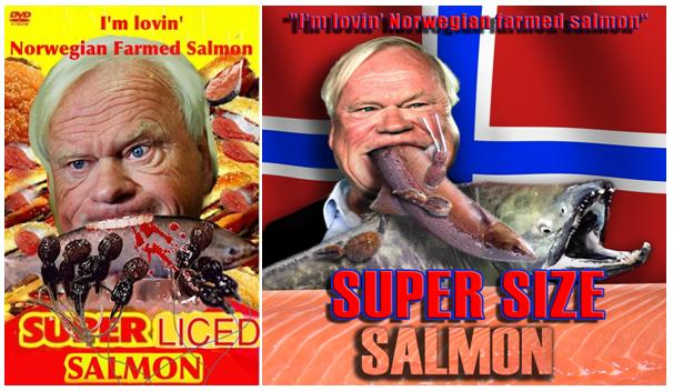 Super Size Salmon film poster double