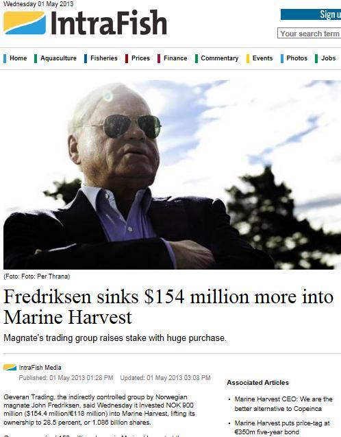 MH cermaq Fredriksen raises stake