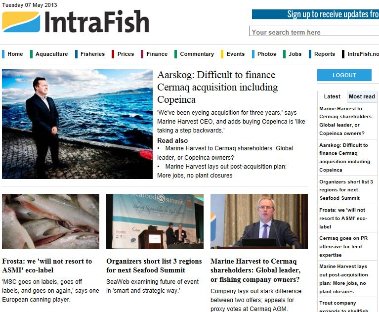 Intrafish news