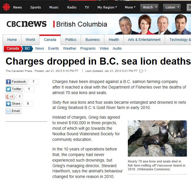 Defamatory Words #7 CBC sea lions