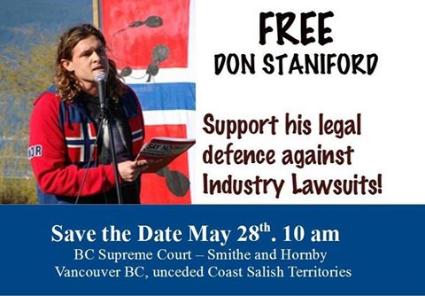 Don Staniford 28 May court appeal hearing