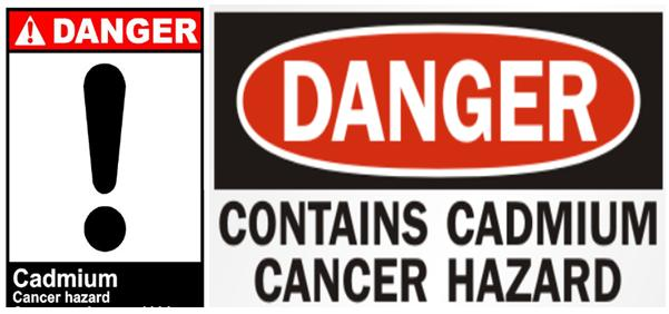 Cadmium danger cancer