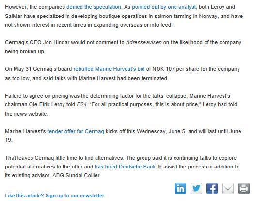 MH Cermaq Undercurrent News #6