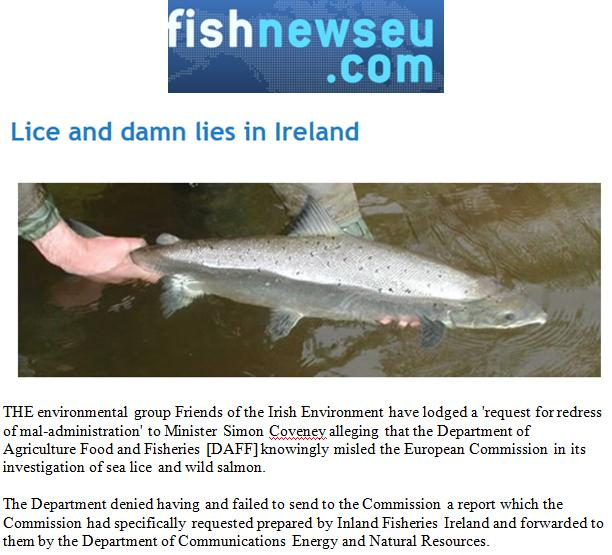 Fish News EU lice and lies