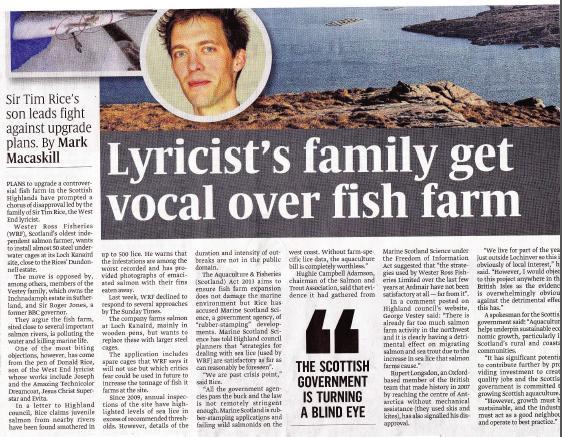 Sunday Times on Rice vs WRF Donald Rice photo