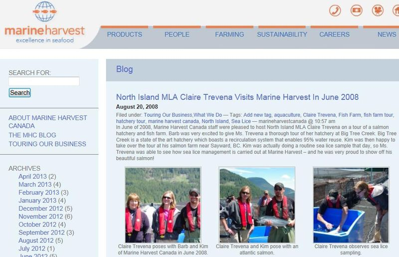 Claire Trevena Marine Harvest visit