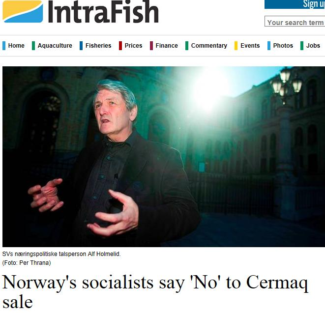 MH cermaq Intrafish Socialists say no #1