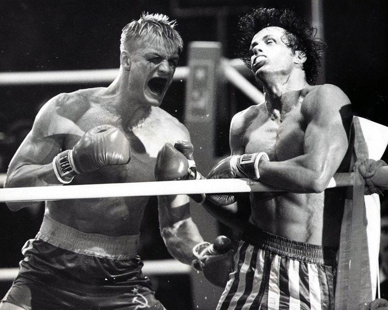 Rocky Drago 4 punching back