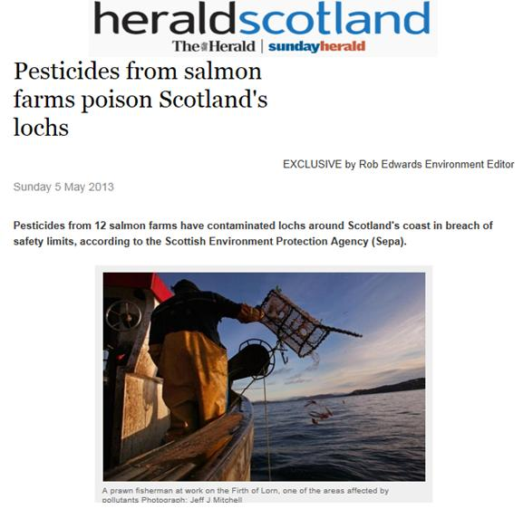 Sunday Herald 5 May 2013 pesticides poison lochs