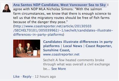 NDP Ana Santos position