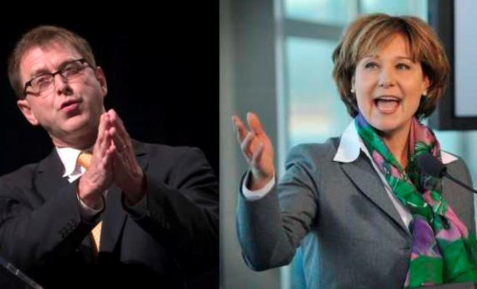Adrian Dix and Christy Clark #4