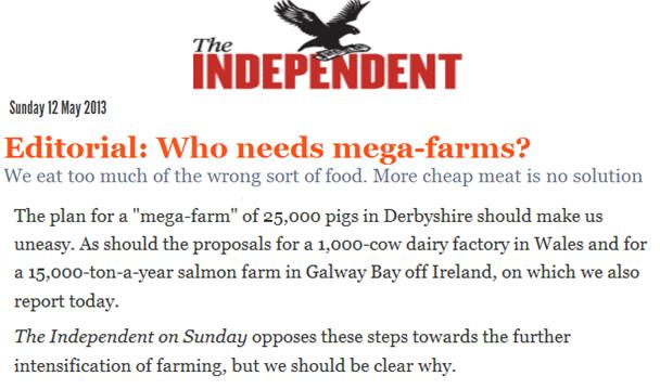 Independent 12 May 2013 Editorial