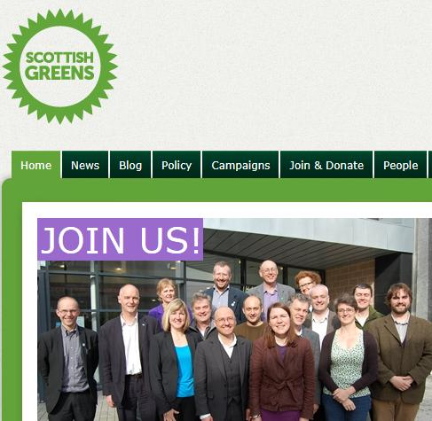 Greens scotland