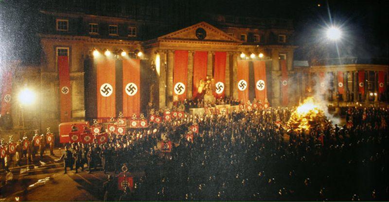 Nazi burning books #3