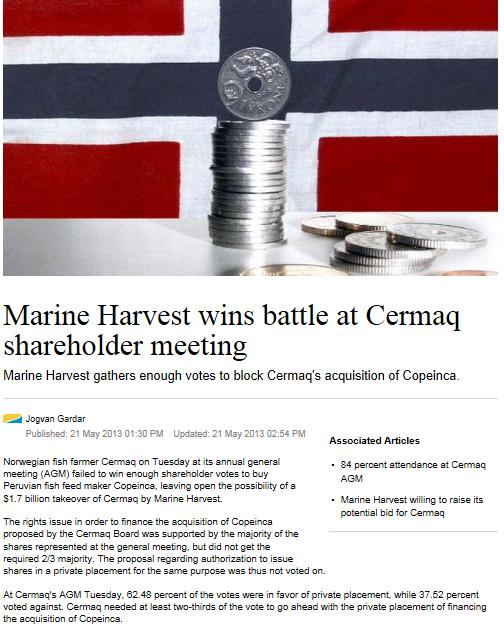 MH Cermaq Intrafish 21 May #2