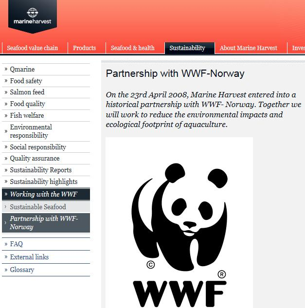 WWF Marine Harvest Norway partnership