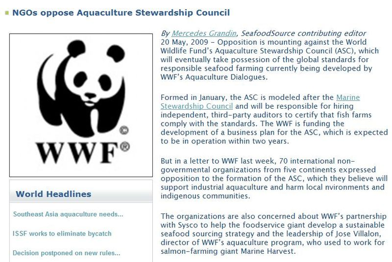 WWF opposed