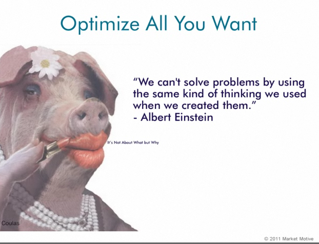 Lipstick on a pig #8 Einstein quote