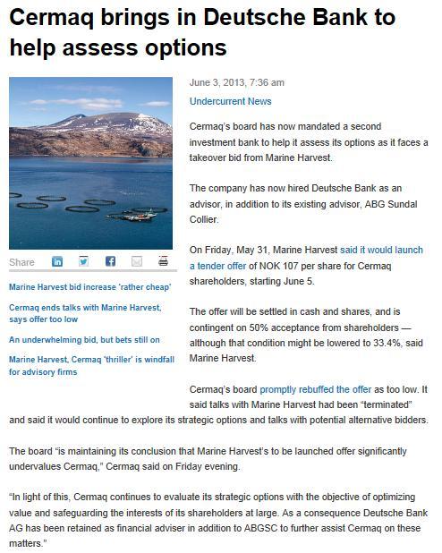 MH Cermaq Undercurrent News #7