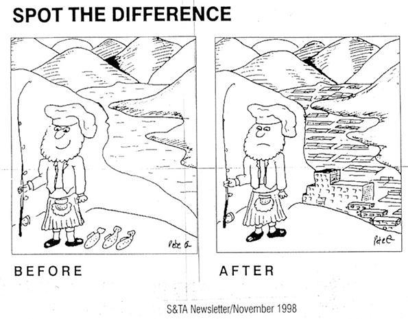 Scotland cartoon before after